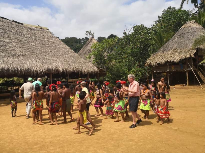 Embera Indianerdorf