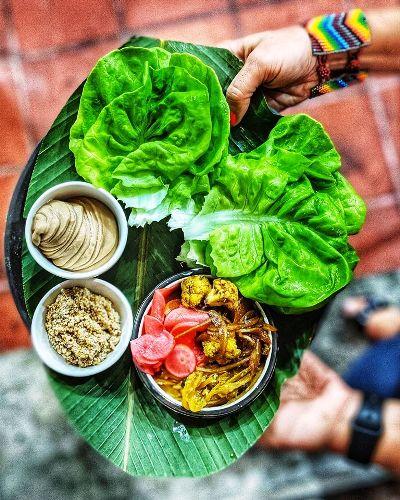 Vegetarisches Essen im Fonda Lo Que Hay